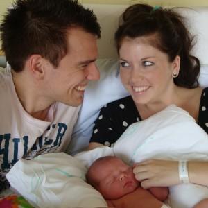 den 1 august blev vi en familie på 3 - om end en noget ung familie