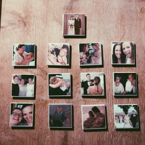 DIY julegave ide - magneter med personlige billeder